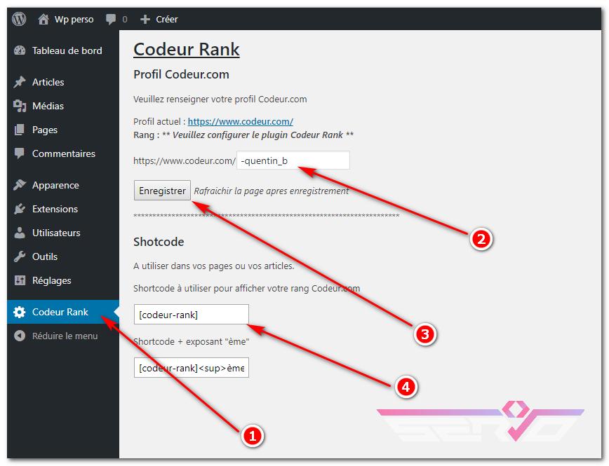 Afficher votre rang Codeur com sur votre Wordpress [PLUGIN